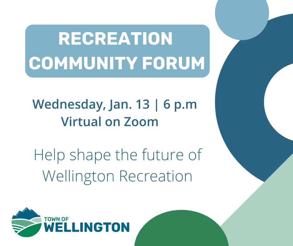 Recreation Community Forum Jan. 13, 2021 | 6 p.m. Virtual on Zoom