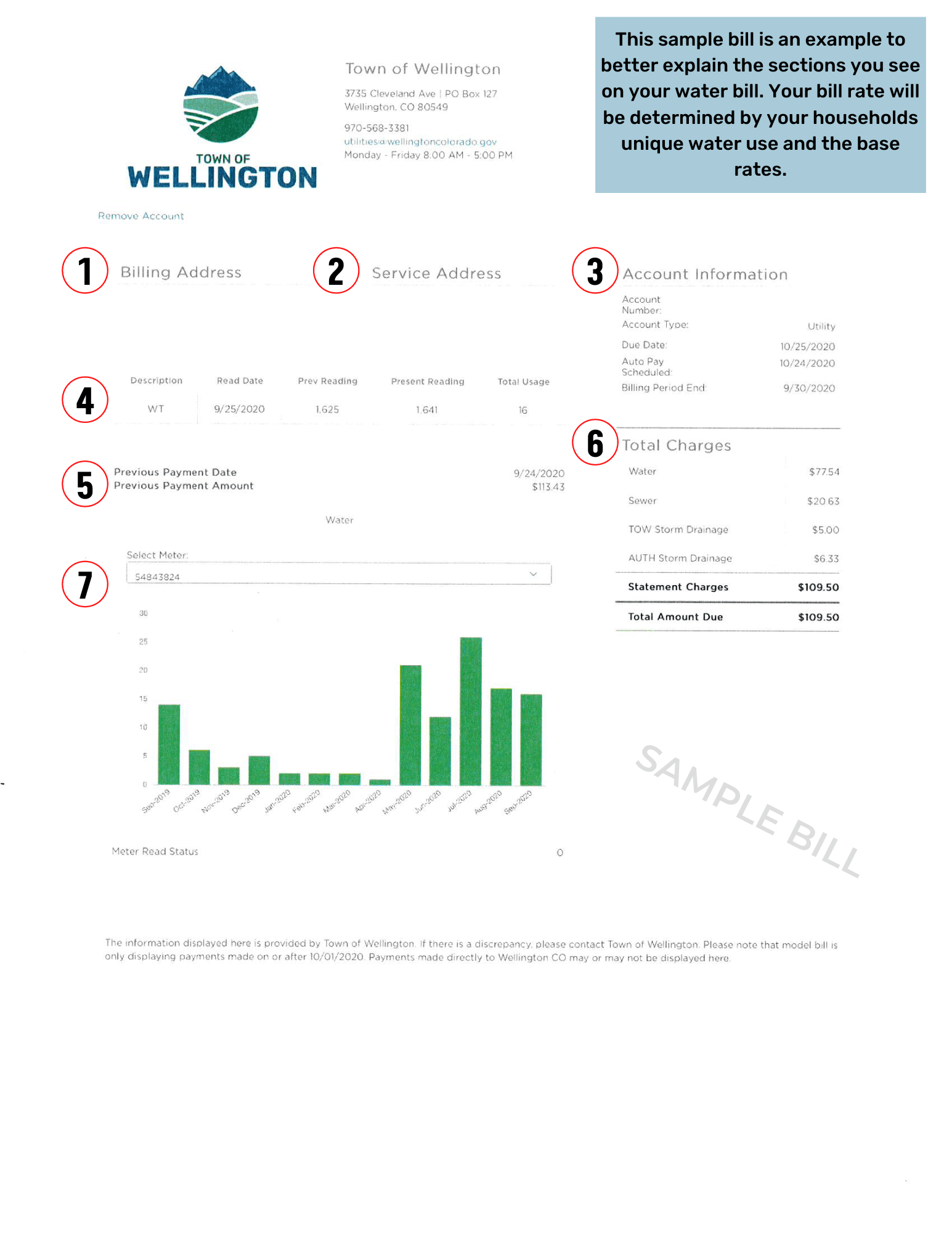 Electronic Water Bill Sample