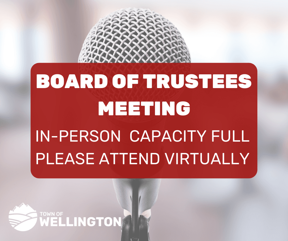 Board of Trustees Meeting capacity full. Please attend virtually